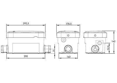 Schema tecnico della pompa VD 100