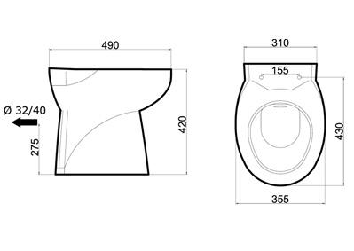 Schema tecnico del trituratore W11 SP